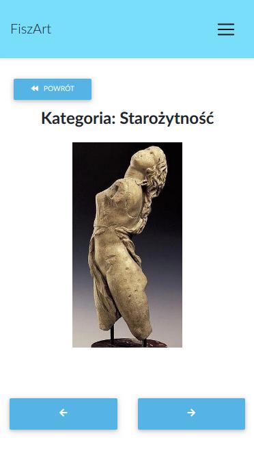 Wygląda fiszki z historii sztuki awers